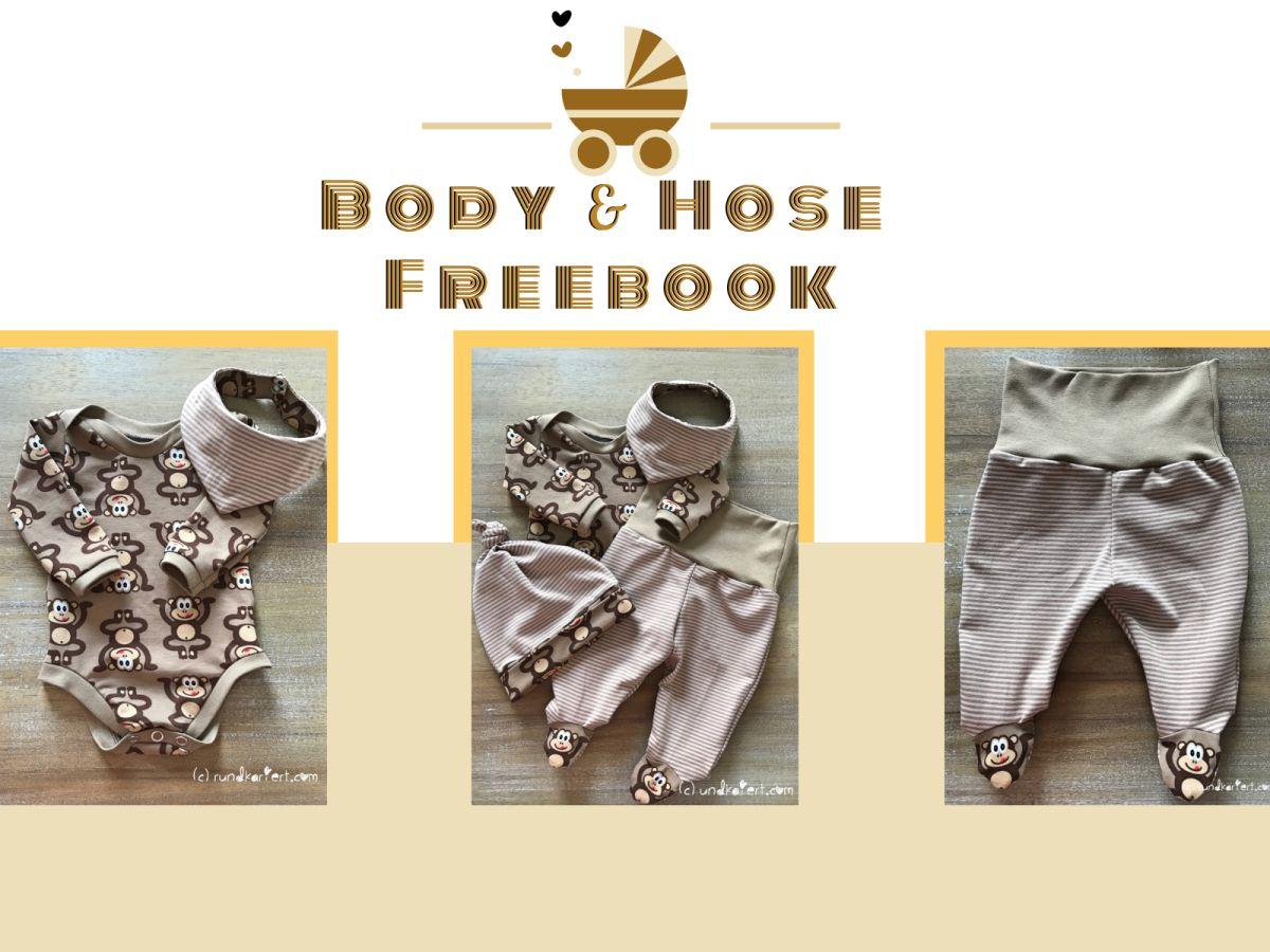 Links für Freebook zum Nähen für Baby Body und Hose. | Nähen ...