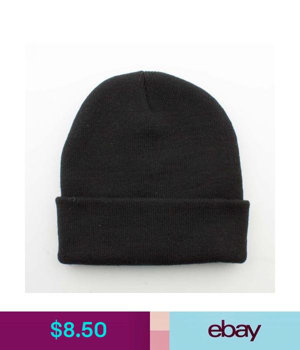 Download New Quality Blank Plain Black Long Skull Fold Unfold Cuffed Beanie Winter Hat Winter Hats Hats Plain Black