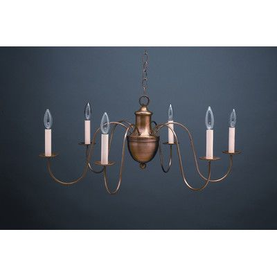 Northeast Lantern Chandelier 6 Light Candelabra Sockets S-Arms Hanging Chandelier | Wayfair