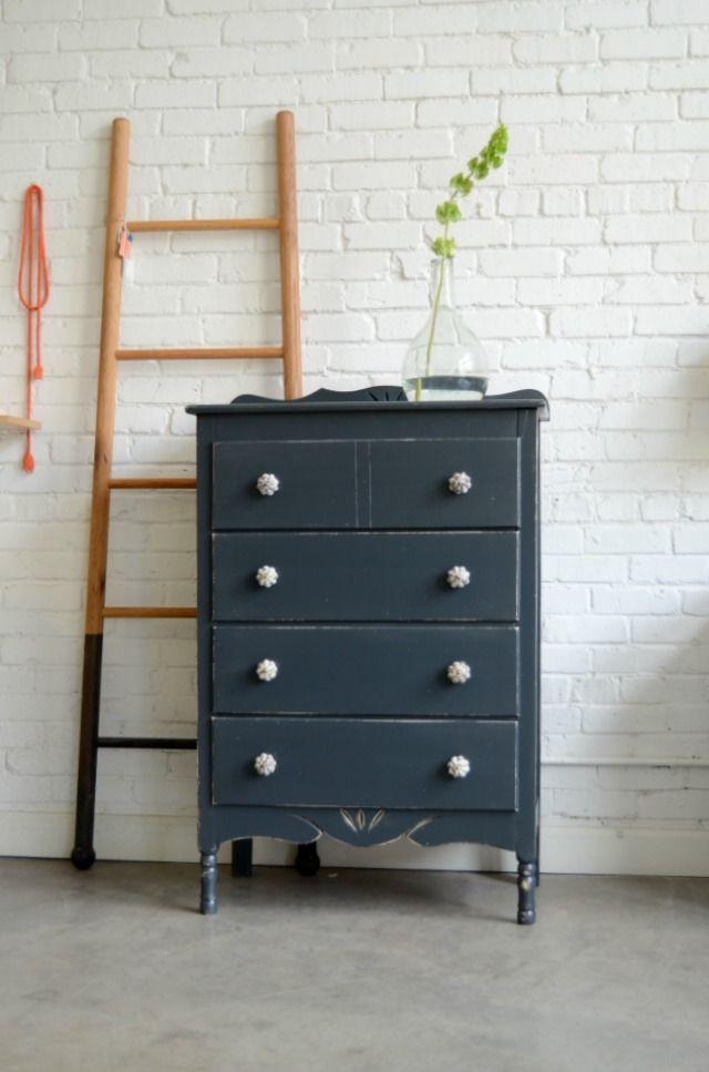 gray dresser | Restoring old furniture, Pretty living room ...