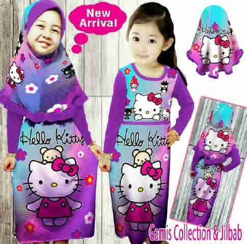 Baju Muslim Hello Kitty Anak 8