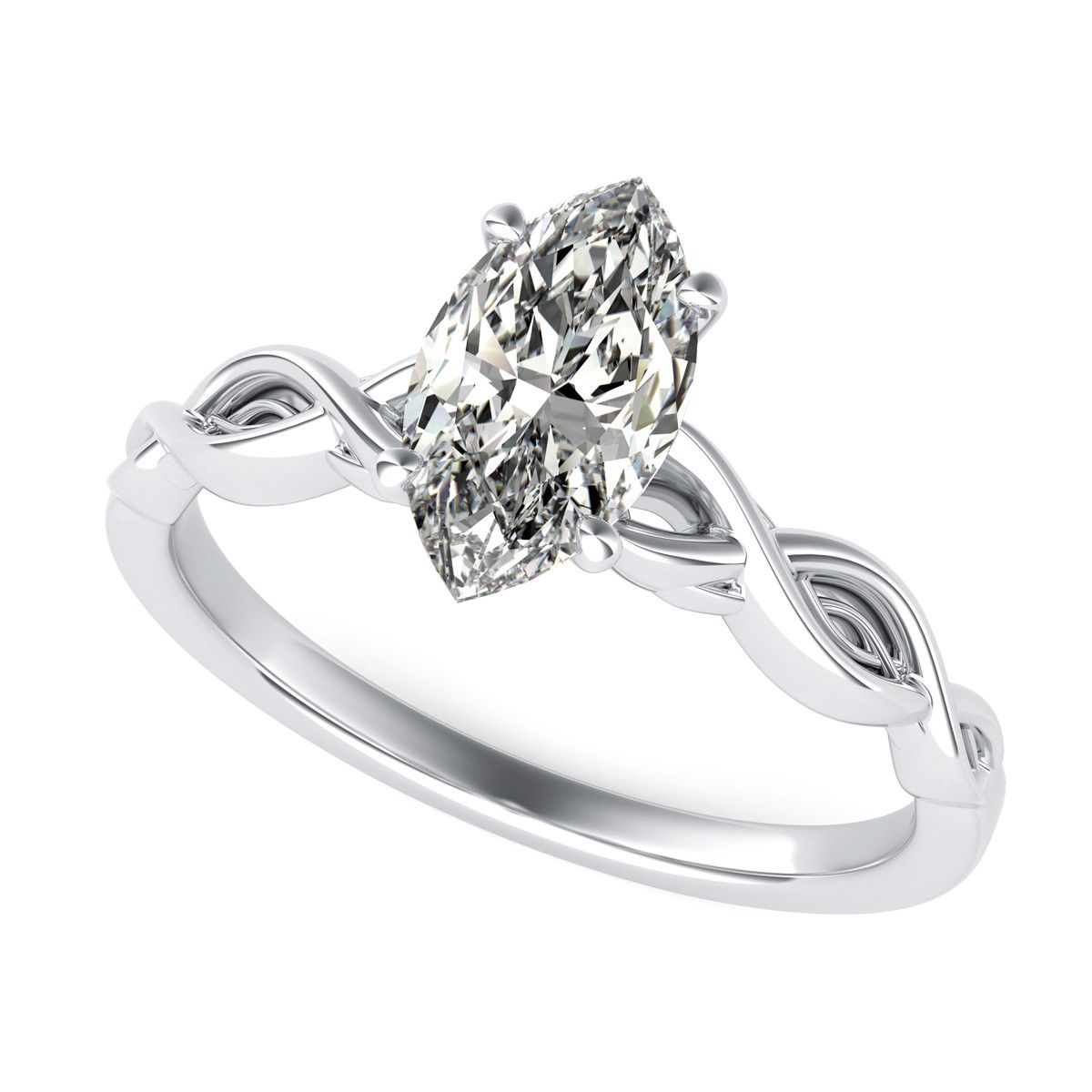 twisted wedding combo twist diamond ring infinity with pin band round engagement