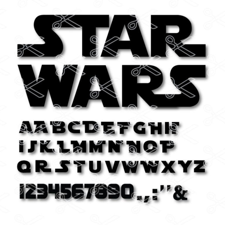 Star Wars Alphabet SVG DXF Star Wars Font Star wars