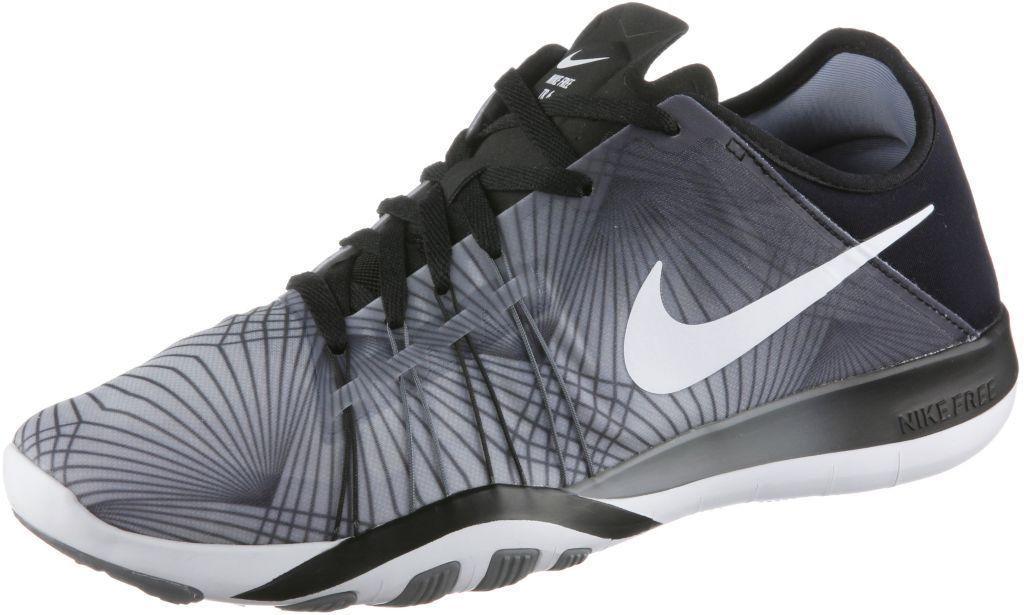 Nike  Free  TR  6  Print  Fitnessschuhe  Damen  schwarz grau   Sport ... 295a5f9e6b