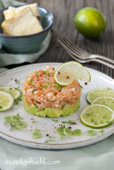 Photo of Divine salmon tartare bedded on avocado | Recipe | Mouthfeel