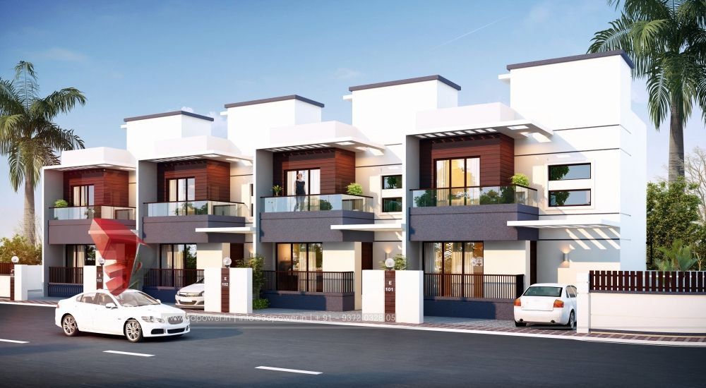 Row House Architecture Modern Row House Design Row House Architecture House
