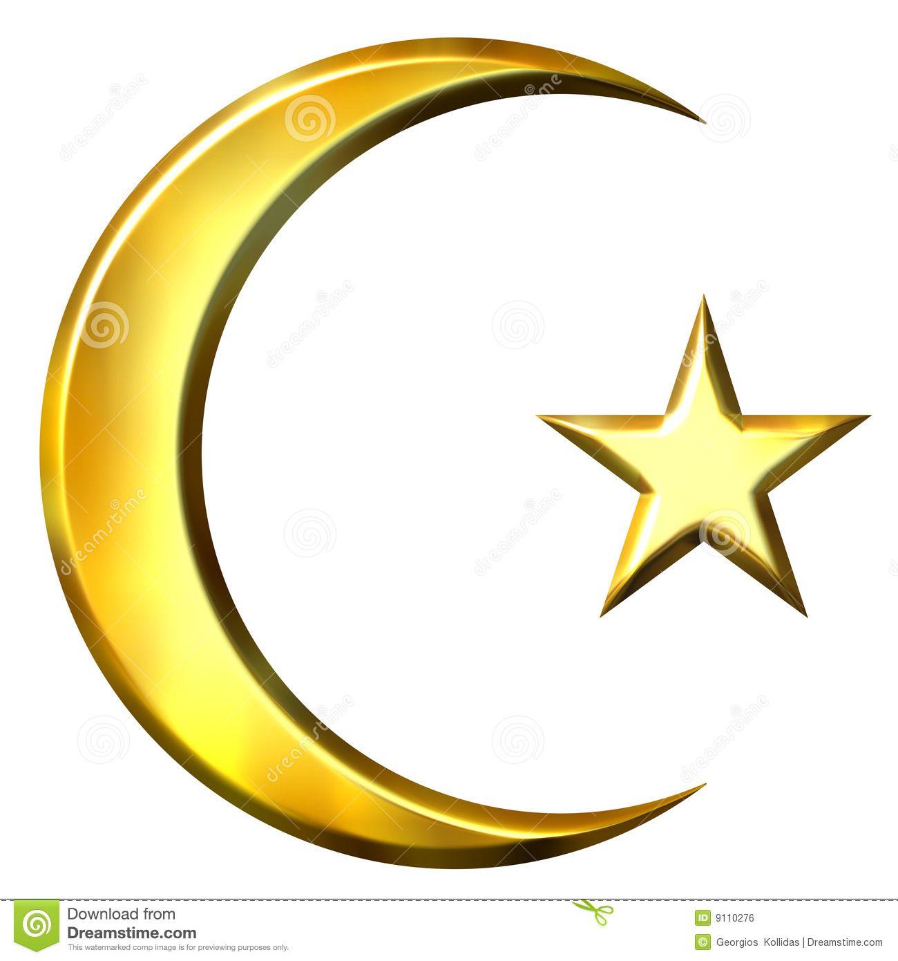 Islam symbol crescent and star golden symbols of islamic faith crescent and star golden symbols of islamic faith white background jewish muslim emblems symbols pinterest crescents symbols and i buycottarizona Gallery