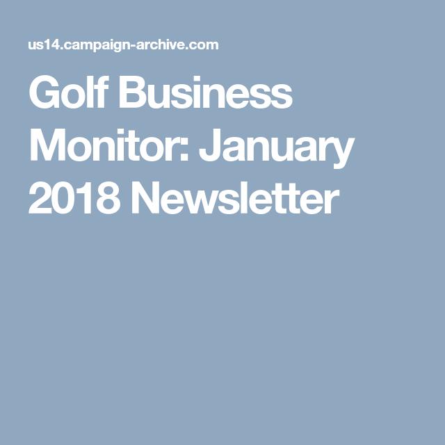 Golf Business Monitor January Newsletter: TOP 5 golf business