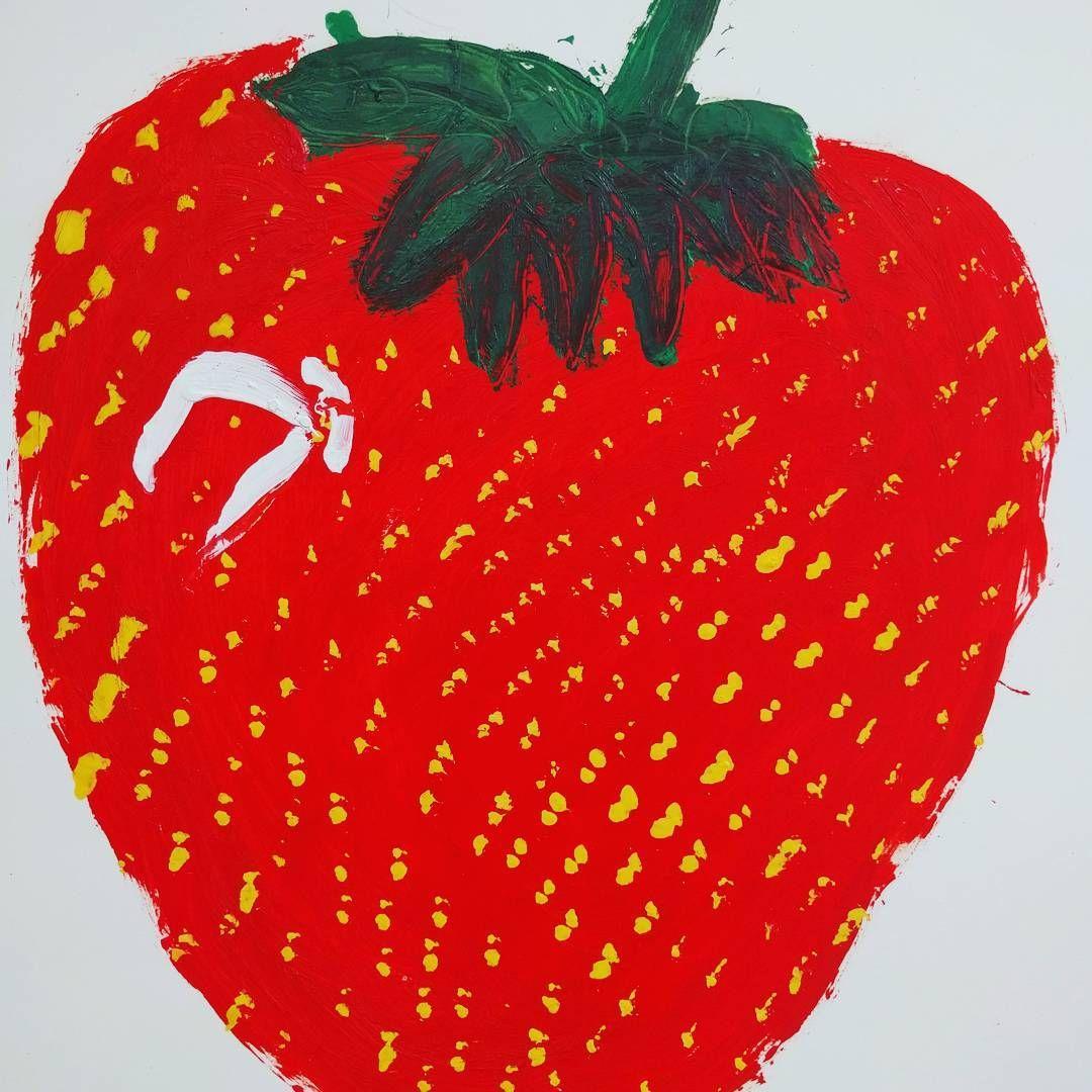 "Rose Wylie ""Strawberry"" #houseforanartlover"