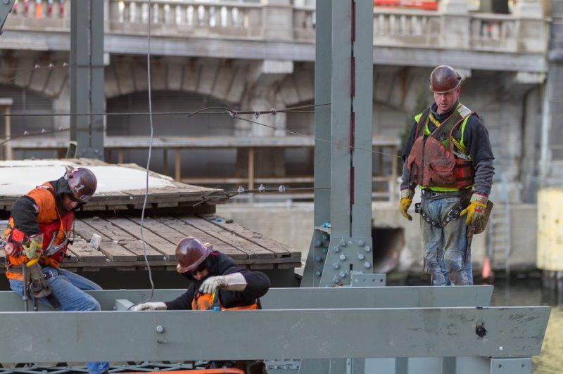 Local 1 Ironworkers Wells St Bridge Working fathers
