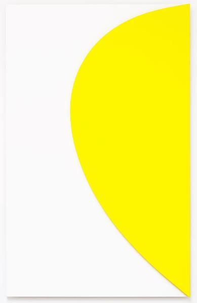 Ellsworth Kelly  Yellow Relief with White,2011  Oil on canvas, two joined panels  80 x 501/4 x 25/8 inches