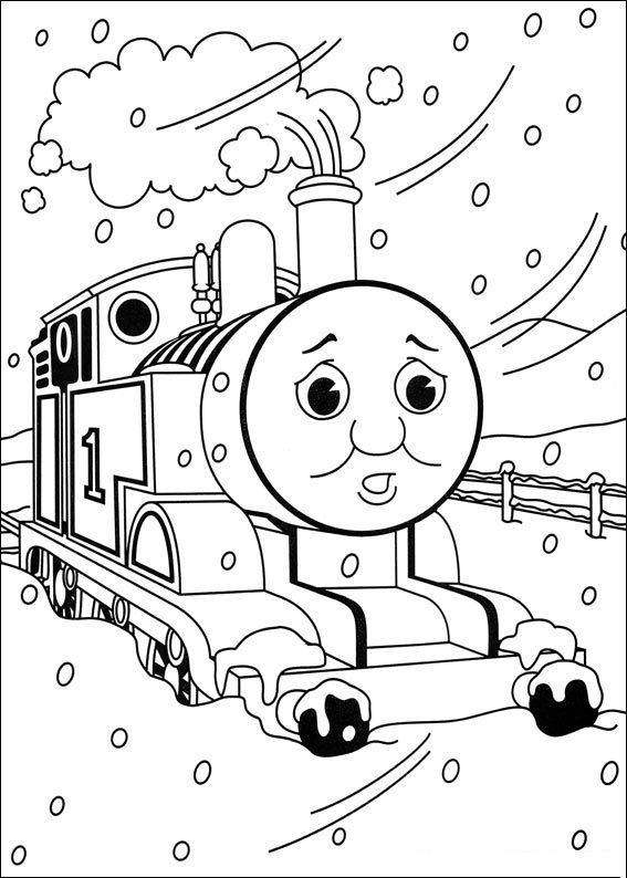 Top 20 Free Printable Thomas The Train Coloring Pages Online