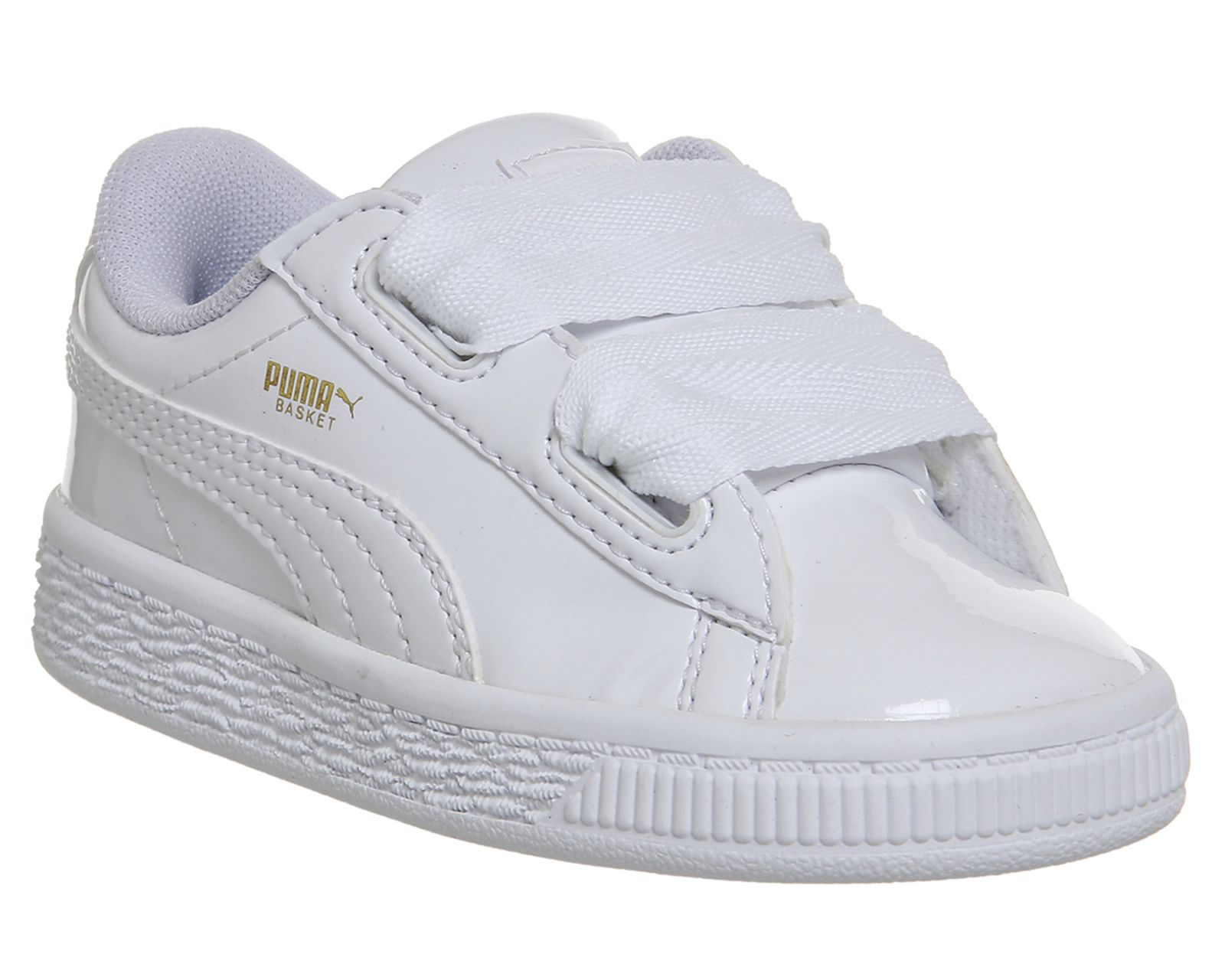 save off c36a8 2777f Puma Basket Heart Inf White Patent | Baby Fever | Puma ...