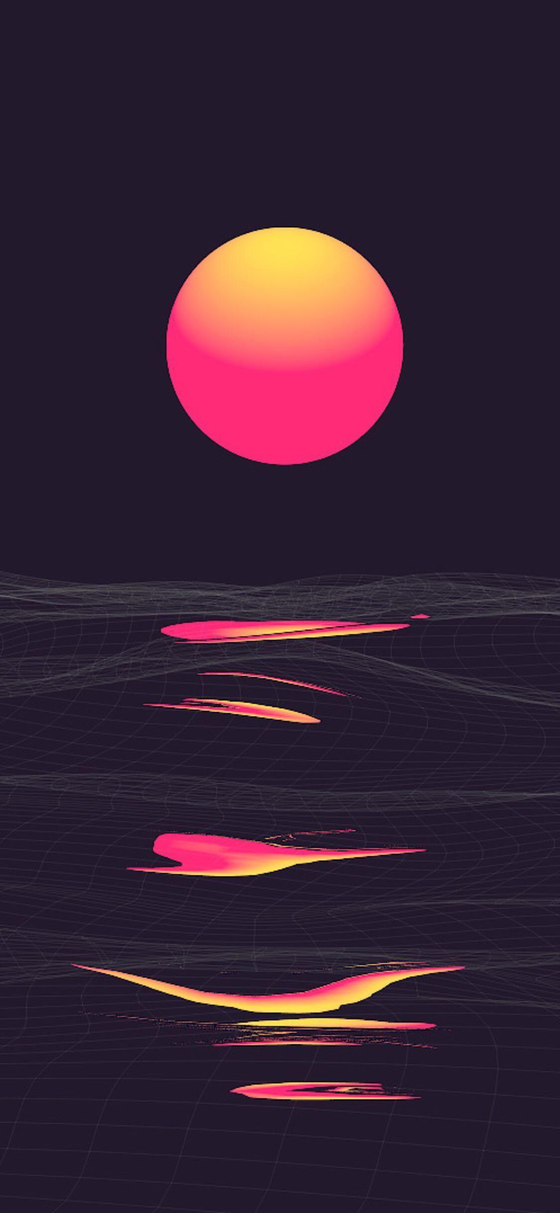 Retrowave Sunset Smart Phone Wallpapers 4kphonewallpapersreddit Iphonewallpapersreddit Redditw Retrowave In 2020 Vaporwave Wallpaper Dark Wallpaper Phone Wallpaper