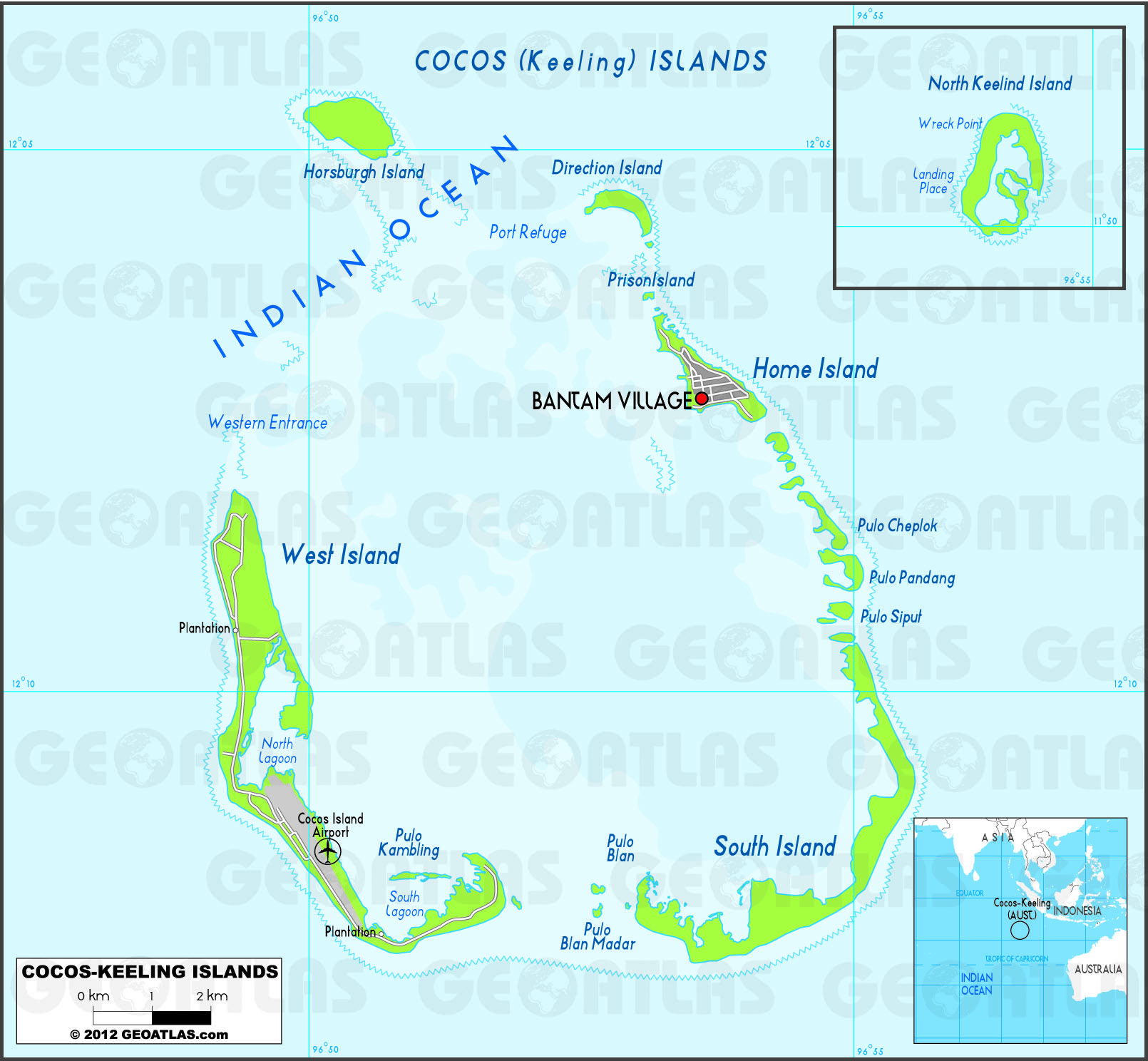 Cocos Island: The Territory Of The Cocos (Keeling) Islands, Also Called