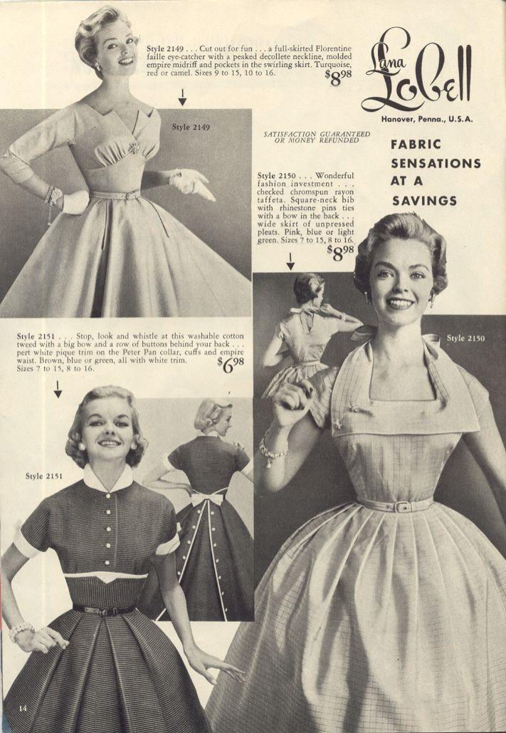 Lana Lobell catalogue images: 1950s | Vintage | Pinterest | Vestidos ...