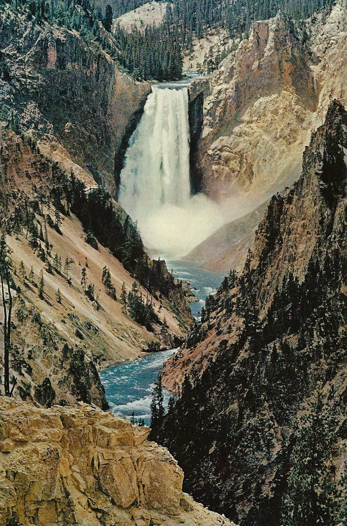 Lower Falls Of The Yellowstone River Wyoming National Geographic December 1965 National Geographic Photography Natural Geographic National Geographic