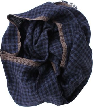 Shop Now - >  https://api.shopstyle.com/action/apiVisitRetailer?id=475492422&pid=uid6996-25233114-59 BRUNELLO CUCINELLI Cashmere Silk Check Scarf  ...