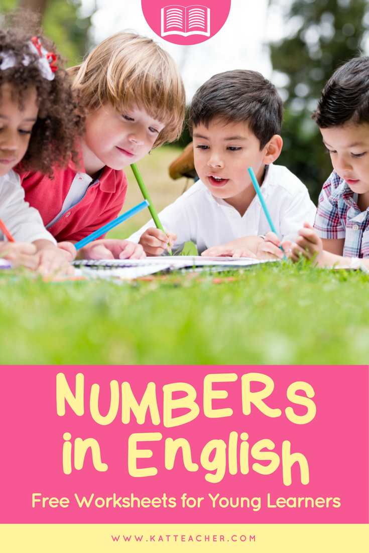 Numbers in English, Free Worksheets and Coloring Sheets for CP, CE1 ...