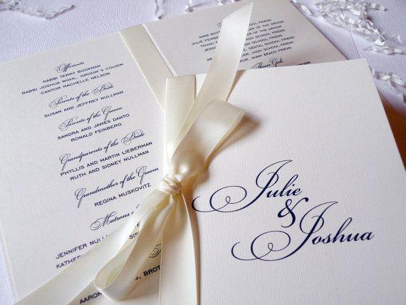 Elegant Wedding Program And Accessories Deposit To Get Started