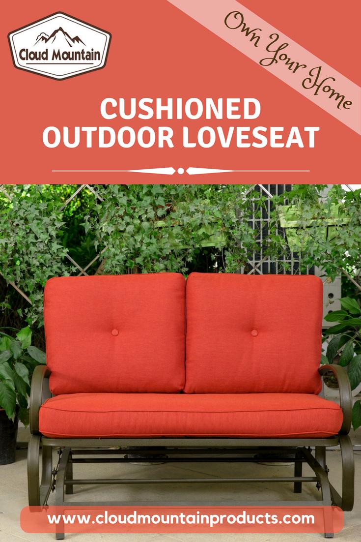 Outdoor pourch glider rocking chair garden patio loveseat furniture
