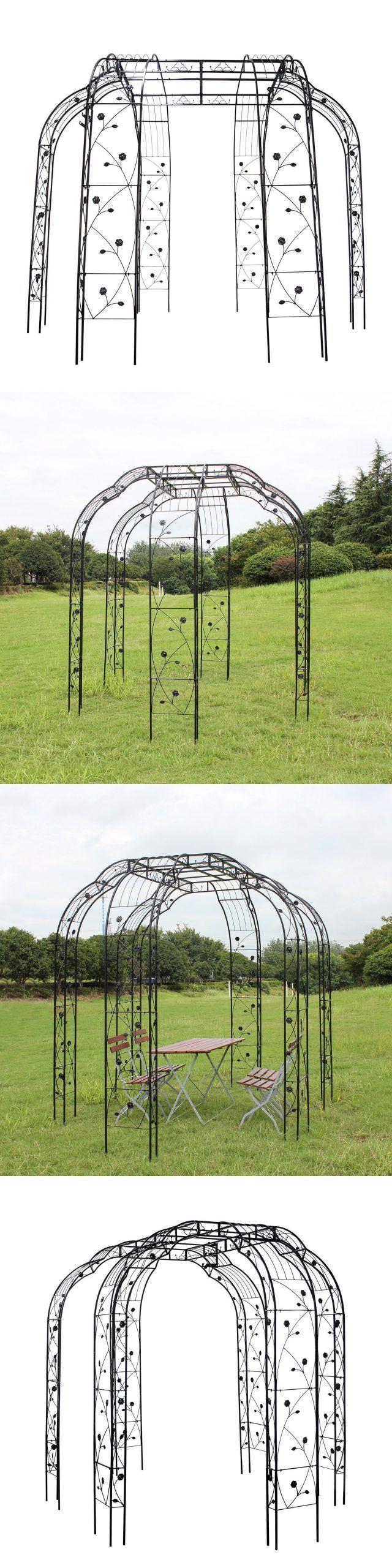 Arbors and Arches 180993: 8.2 Metal Garden Pergola Arch Flower Archway Arbor Cli...#arbor #arbors #arch #arches #archway #cli #flower #garden #metal #pergola