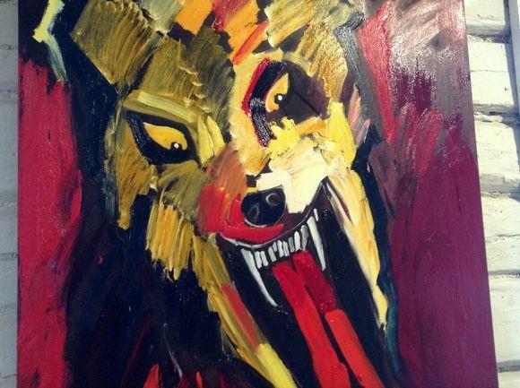 Sata Laulua Susista Taitelijat Ottavat Kantaa Susien Puolesta Oljymaalaus Taiteilija Indie