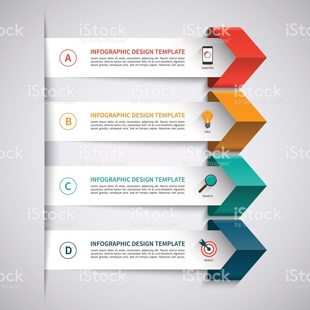 infographic template  modern arrow infographic elements