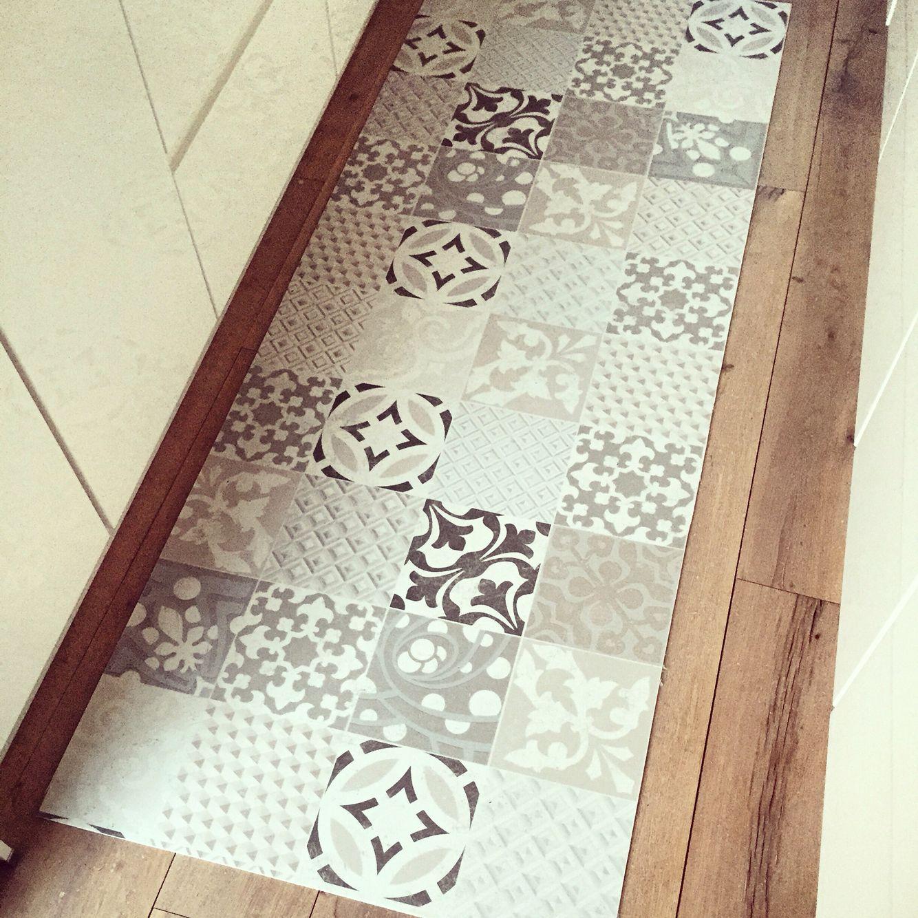 tapis cuisine carreaux de ciment