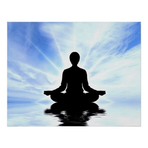 Lady On Blue Background Meditation Zen Peace Yoga Poster Zazzle Com Zen Meditation Yoga Poster Meditation