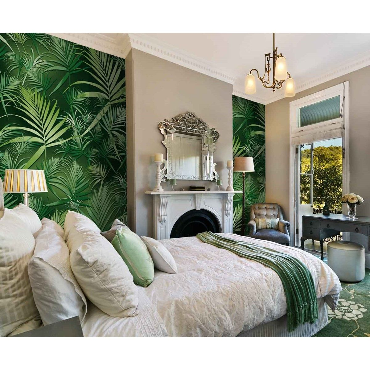 Épinglé par Karla Moya sur Jungle home  Déco chambre vert