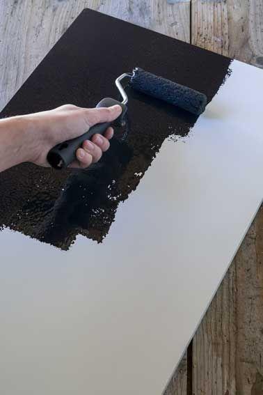 Peinture tableau noir  Les 5 étapes pour la réussir - Repeindre Un Meuble En Chene