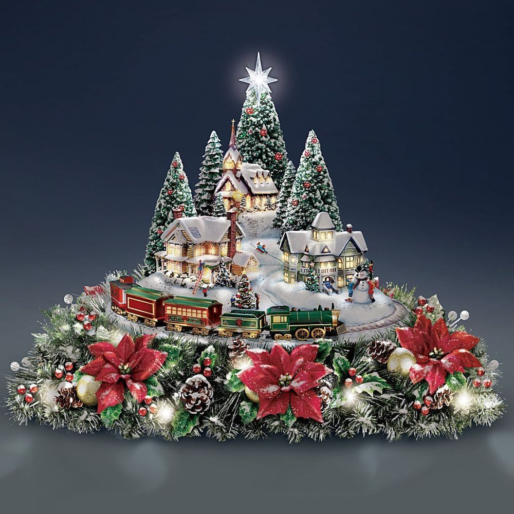 Thomas Kinkade Christmas Village Accessories | www.topsimages.com