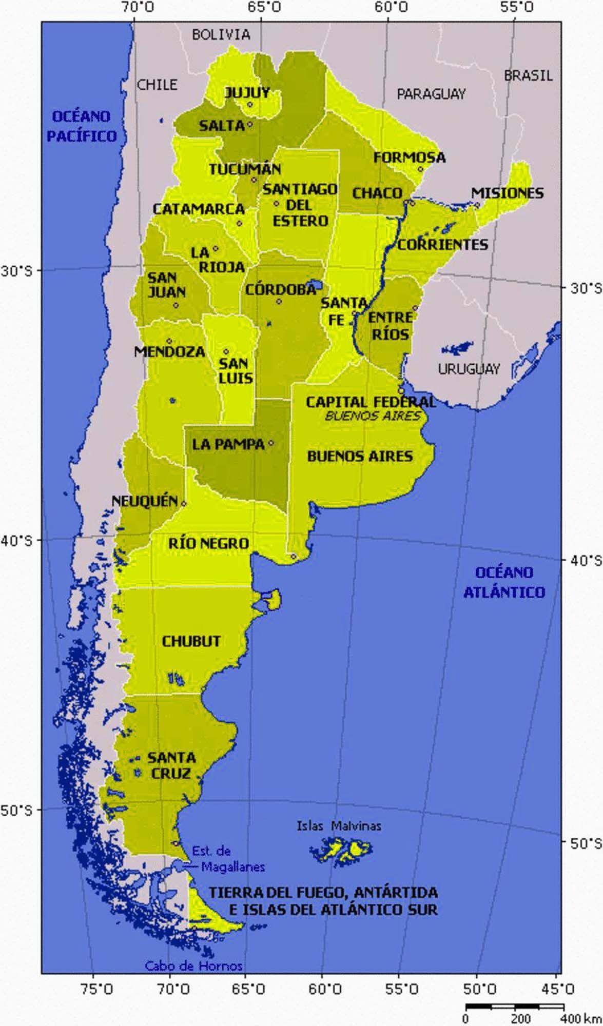 Argentinapoliticalmap ArgentinaPostage stamps Pinterest