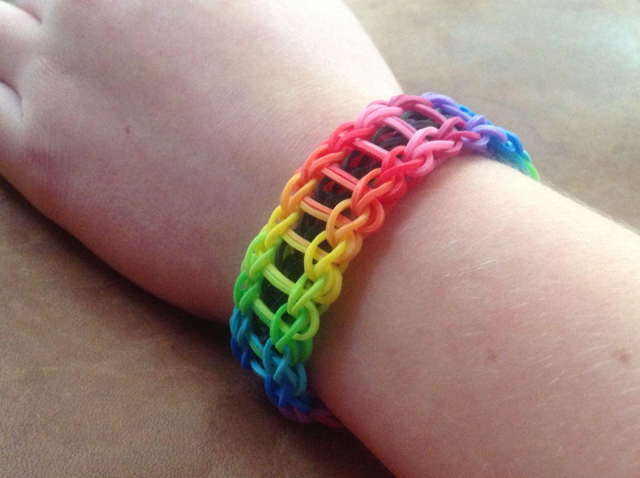 Rainbow Loom Crazy All Around Ombré Rainbow For Sale Rainbow