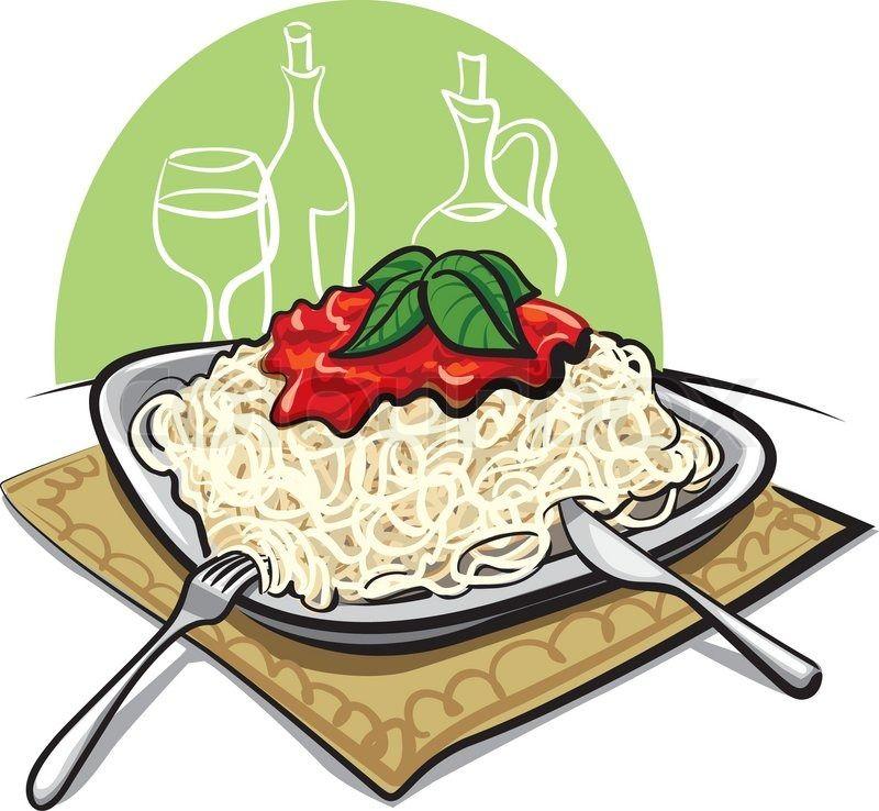 spaghetti dinner clip art stock vector of spaghetti with tomato rh pinterest co uk spaghetti dinner clipart free