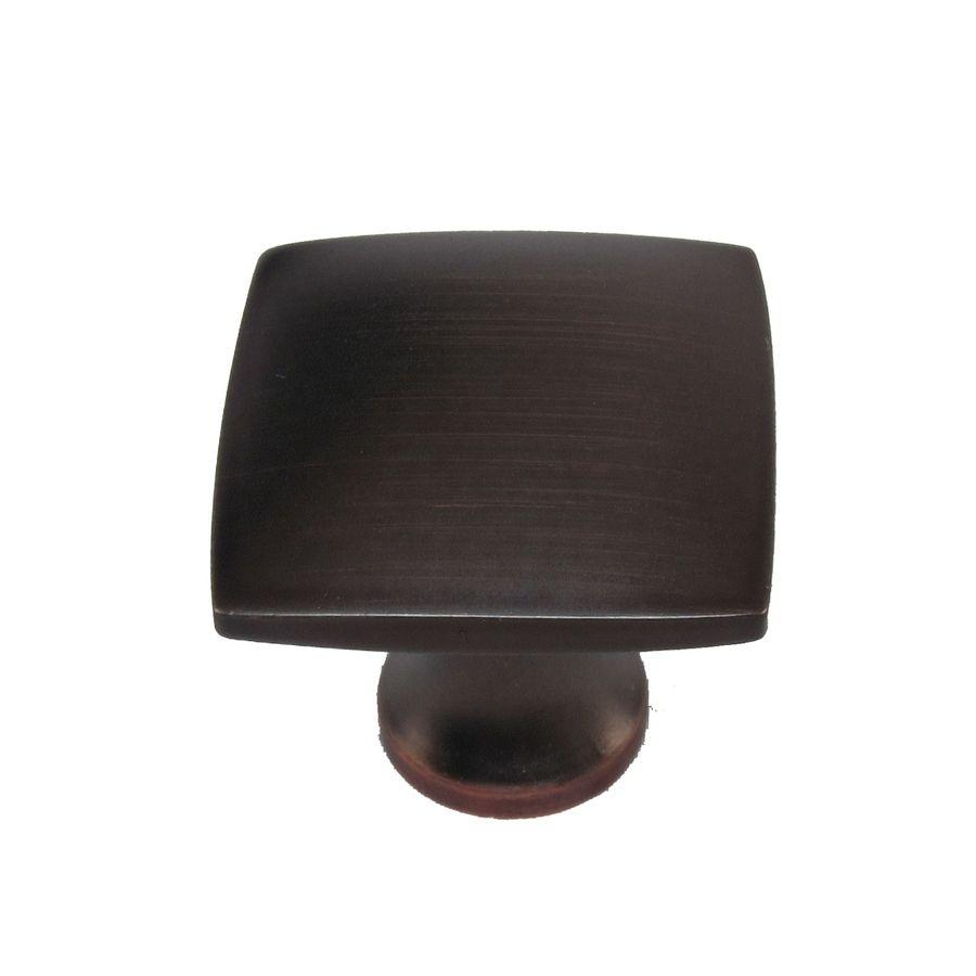 Shop allen roth aged bronze square cabinet knob at lowes com