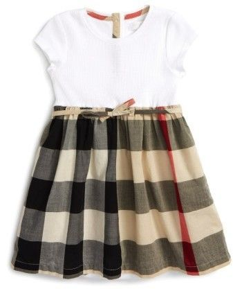 bcc4ae099a7 Burberry 'Mini Rosey' Check Cotton Dress | Products | Baby girl ...