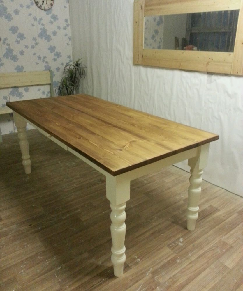 Pine Kitchen Furniture 4ft X 3ft Solid Pine Small Kitchen Table Farmhouse Table Ideas