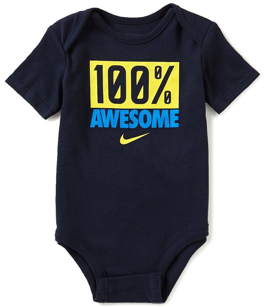 72d1b614aa239 Nike Baby Boys 12-24 Months Awesome Short-Sleeve Bodysuit | Oh Baby ...
