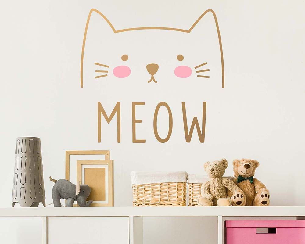 cat wall decal cute cat decal kids wall decal nursery decal cat wall decal cute cat decal kids wall decal nursery decal removable wall sticker vinyl decal