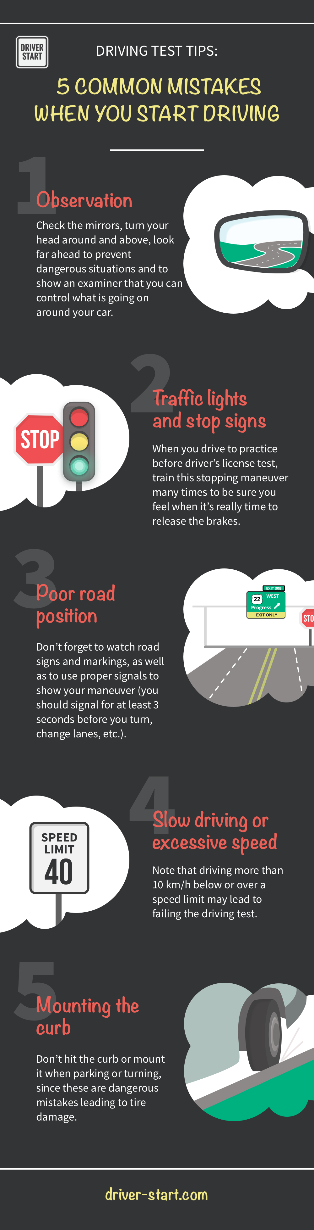 Driving test tips 5 common mistakes when you start