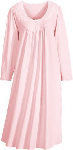 81ebe3497a Sweet Dreams cotton nightgown is luxuriously soft. Made of 100 percent  combed cotton