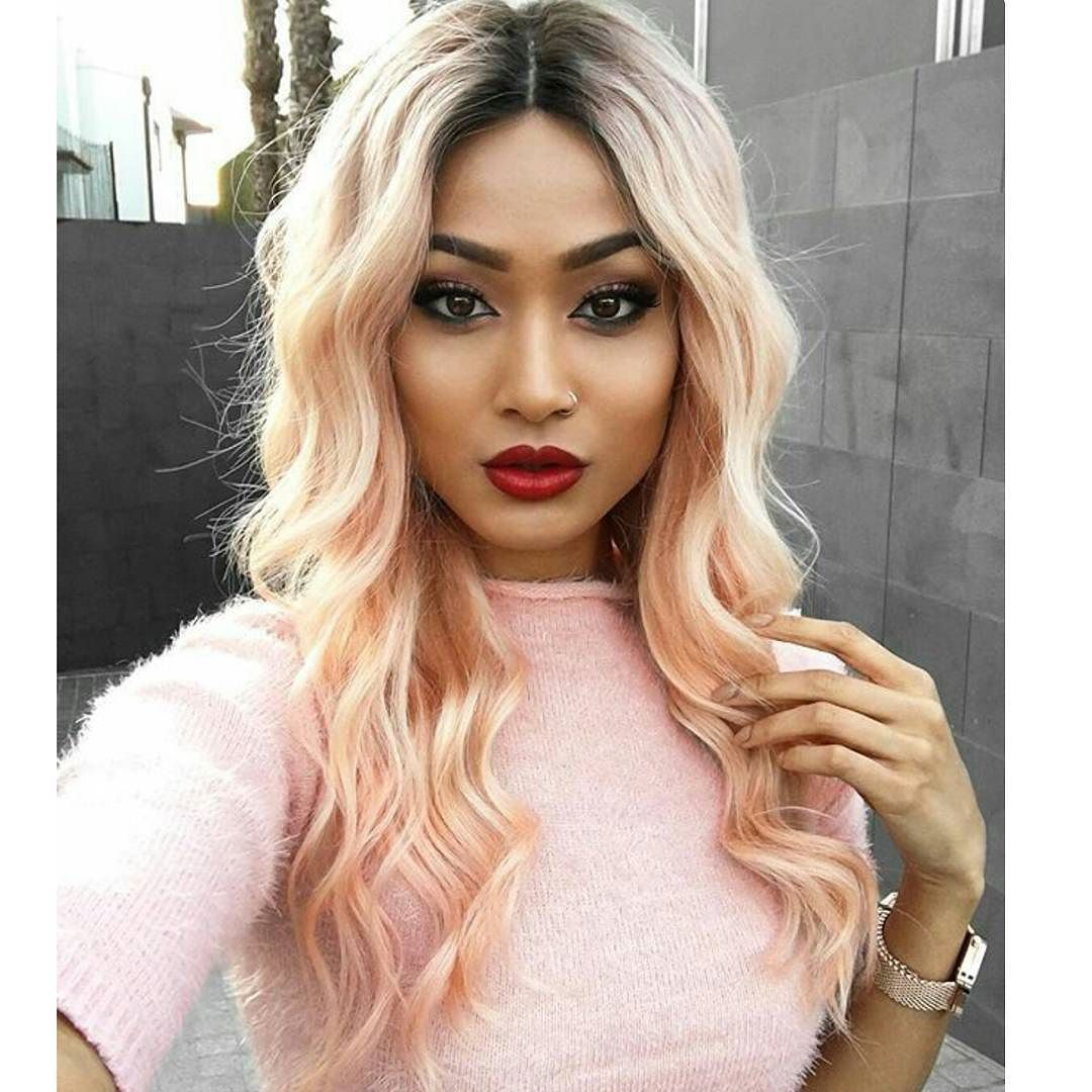 Middle partingblonde wave long hair #middleparting#blonde#wave#Ombre#beauty#hair#fashion#love#sexy#cool#nice#amazing#Yas#discount#onsale#hot#topseller