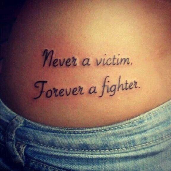 Never a Victim, Forever a fighter.