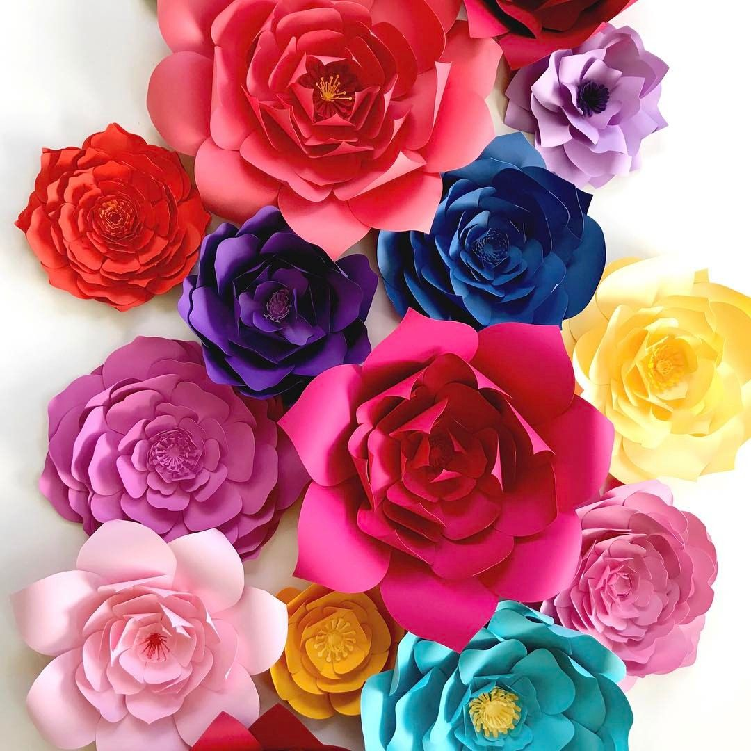 Bright large paper flowers for backdrops flower walls or home decor bright large paper flowers for backdrops flower walls or home decor its a fiesta mightylinksfo