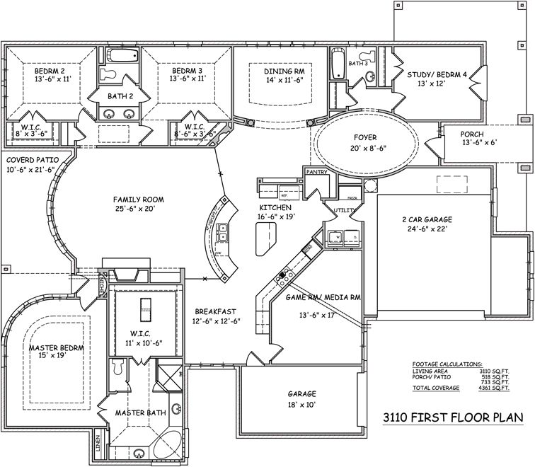 One Story Floor Plans Single Story Open Floor Plans | One Story