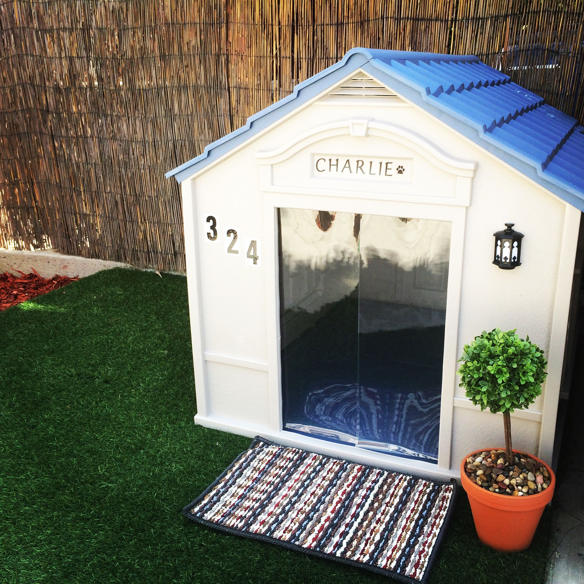 Target Com Dog House Topiary From Micheals House Numbers From
