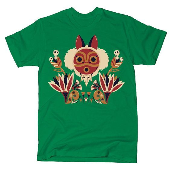 Princess Mononoke T-Shirt Female Fitted by Kannaya on Etsy
