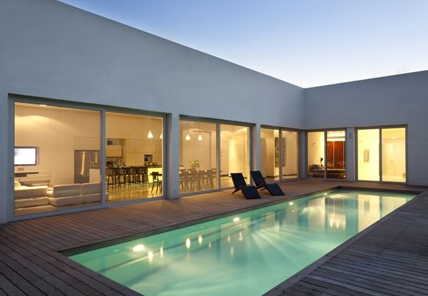 Casa em formato de l pesquisa google projetos de for Casa minimalista un nivel